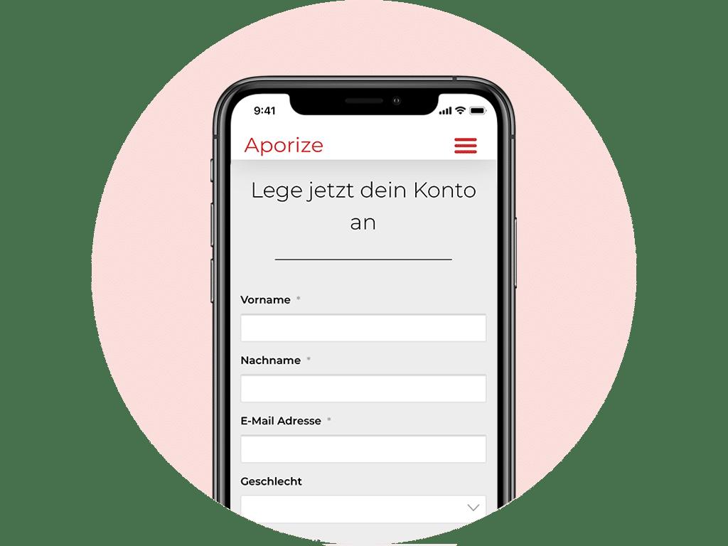Aporize Registrierungsprozess